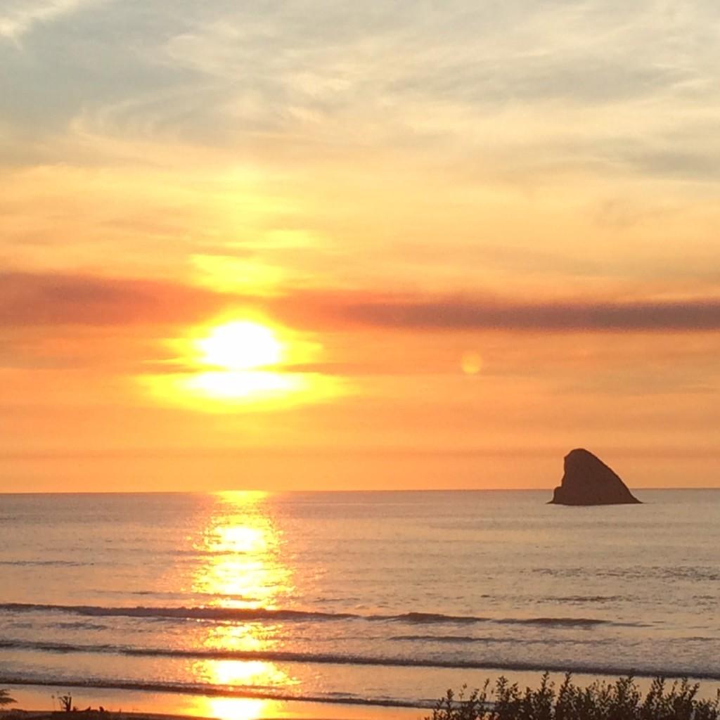 sunset Cape Meares Oregon 1016