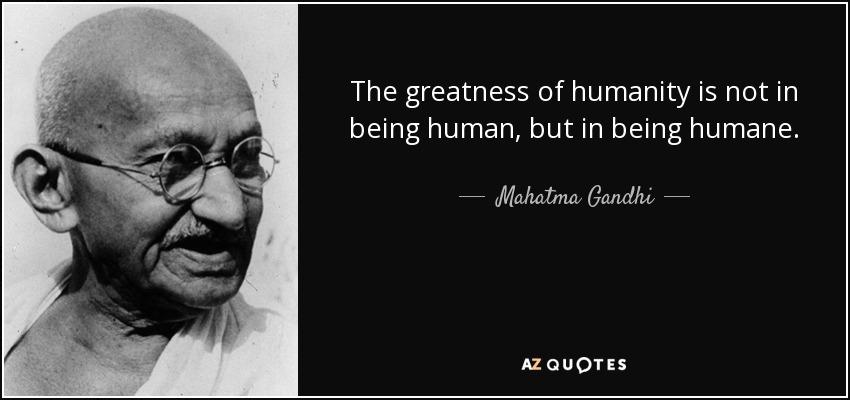 being humane
